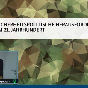 Jugendoffizier der Bundeswehr digital zu Gast am Gymnasium Neckartenzlingen
